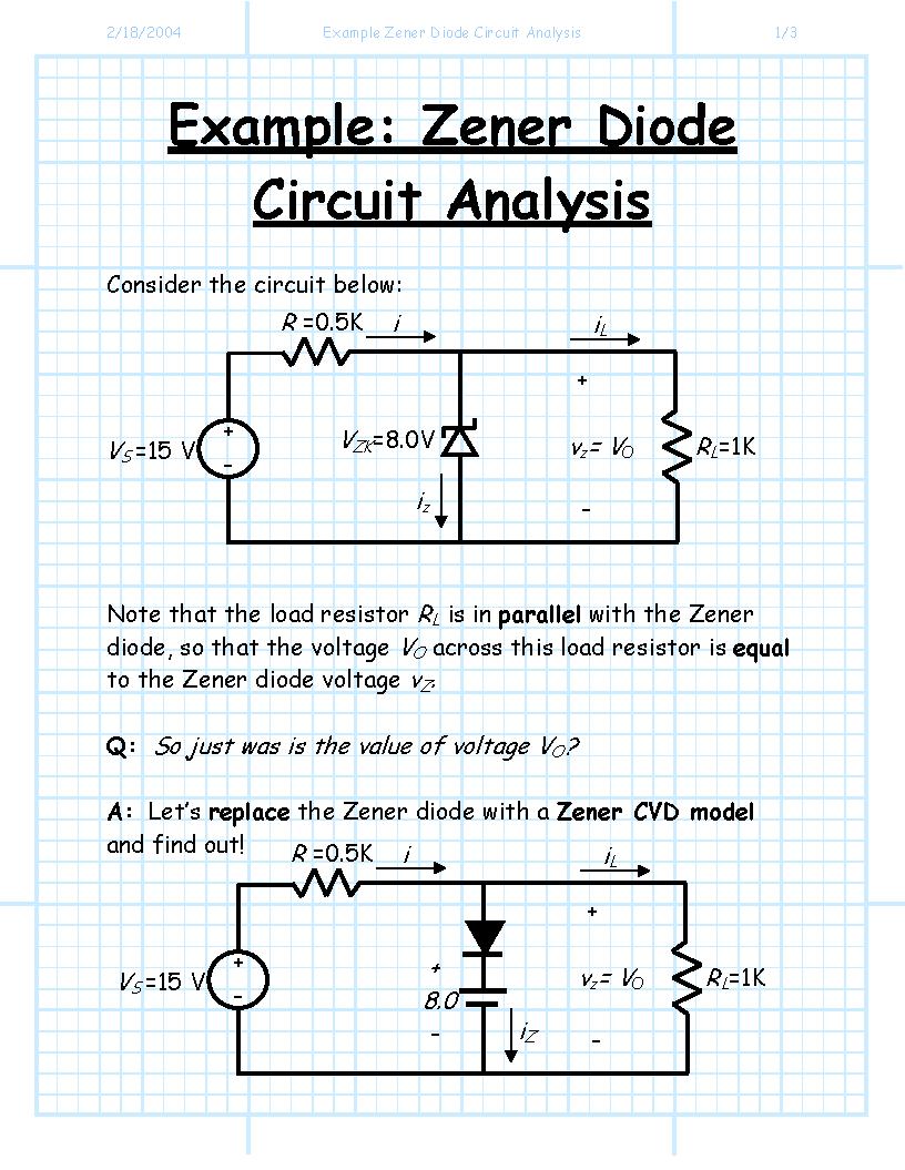 Index Of Jstiles 312 Images Zenerdiodecircuits Zener Diode Circuits Example