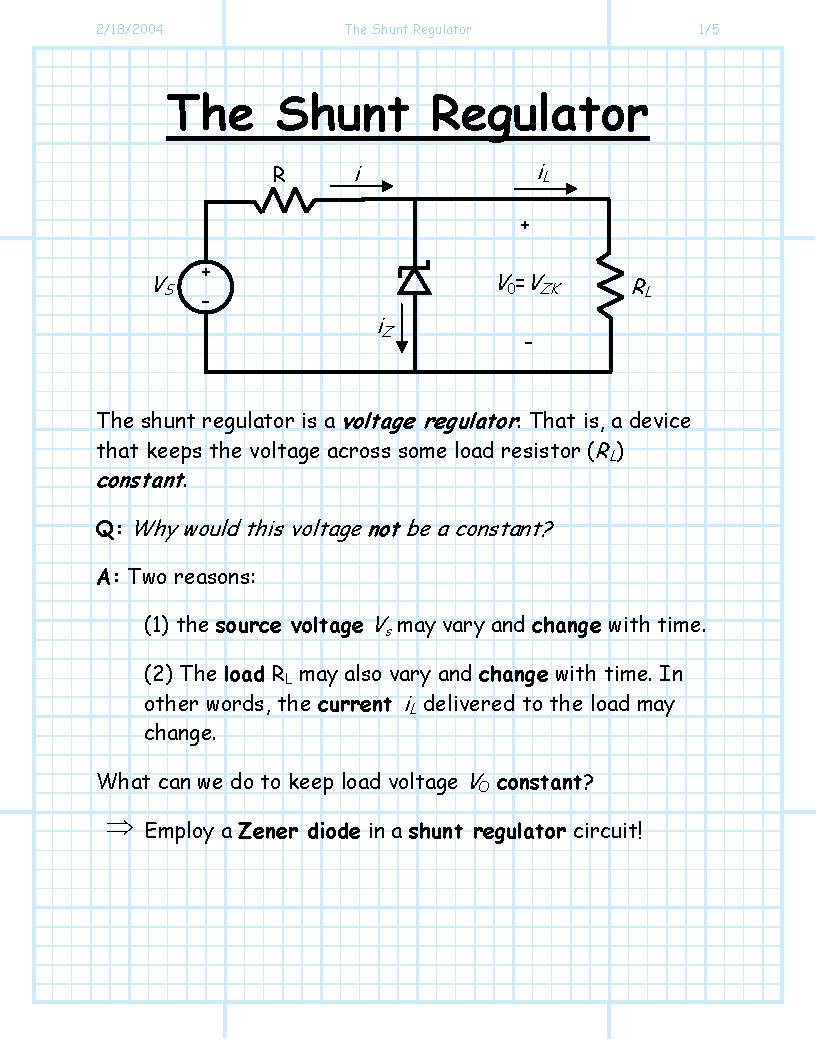 Index Of Jstiles 312 Images Zenerdiodevoltageregulatorcircuitdesign Clinic The Shunt Regulator