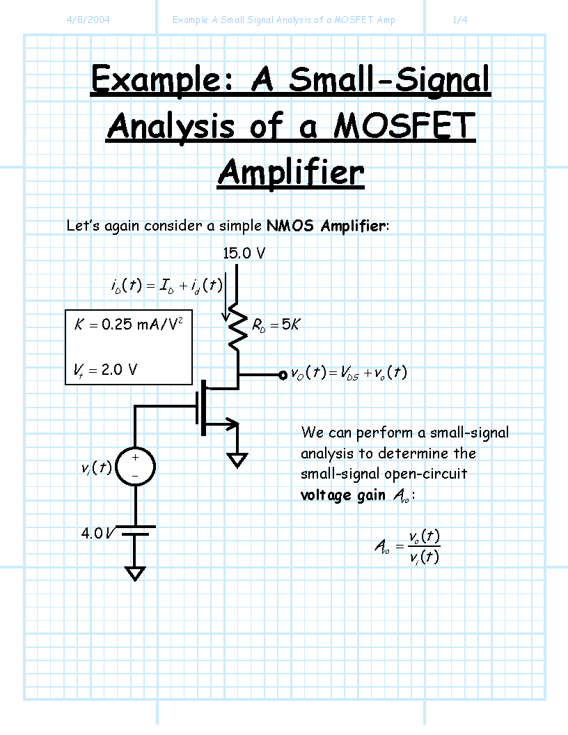 Mosfet Circuit Analysis Examples Simple Pptx Ac Circuits Voltage Electrical Engineering Stack Exchange