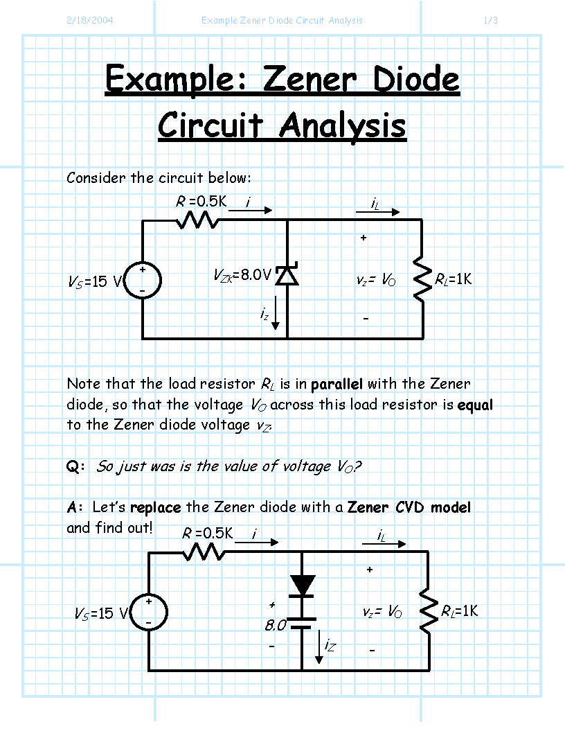 Index Of Jstiles 312 Images Zenerdiodecircuits Zener Diode Circuits Example